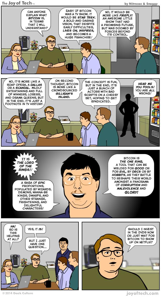 The Joy Of Tech Comic Bitcoin Explained